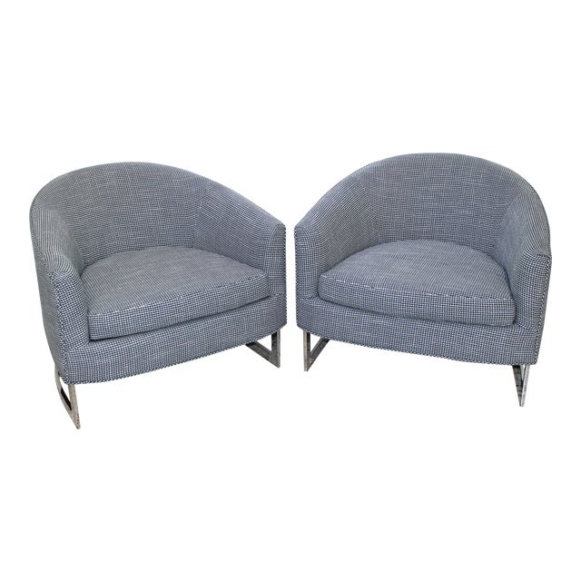 Mid-Century Modern Milo Baughman for Thayer Coggin Chairs - a Pair For Sale