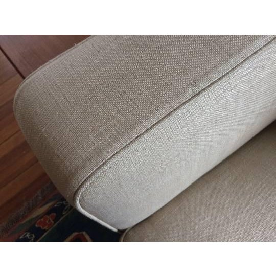 Tan Antonio Citterio for B&b Italia Sectional Sofa & Large Ottoman For Sale - Image 8 of 13