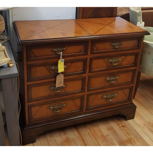 Floor Sample of Century Monarch Chest 8 drawers 2 rows of drawers Asian Hardwoods, mahogany veneers