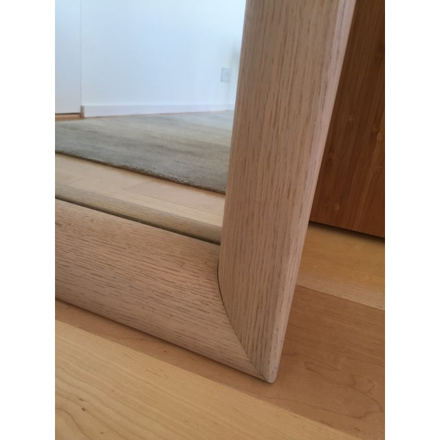 Ligne Roset Floor Standing Oak Frame Mirror - Image 6 of 9