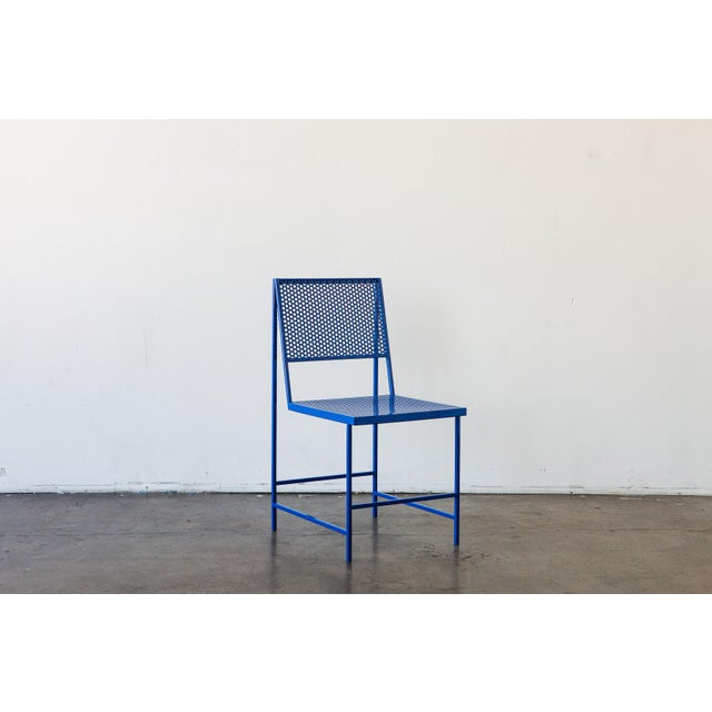 Foreman Brothers Design Flux Dining Chair in Black Oxide by The Foreman Brothers For Sale - Image 4 of 7