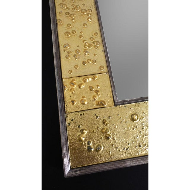 Contemporary Golden Phase Mirror For Sale - Image 3 of 6