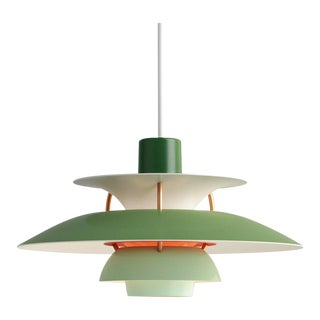Poul Henningson Green PH5 Mini Pendants for Louis Poulsen