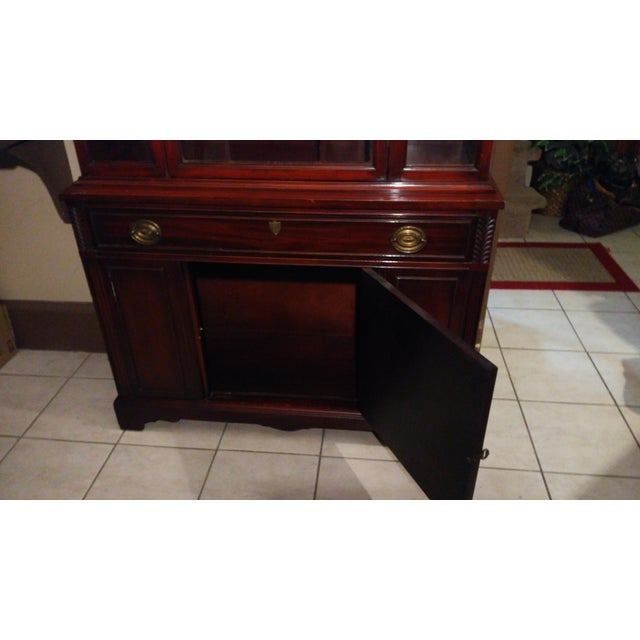 Bernhardt Mahogany Glass Front China Cabinet For Sale - Image 10 of 11