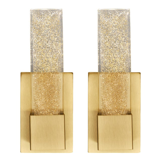 Murano Glass Modern Slab Sconces For Sale - Image 11 of 11
