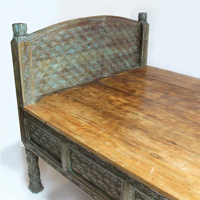 Carved Takhat Daybed - Image 3 of 4