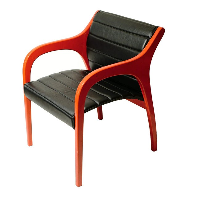 Sormani Claudio Salocchi Leather Armchairs - A Pair For Sale - Image 4 of 5