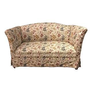 1920s Vintage High End Crewel Upholstered Loveseat For Sale