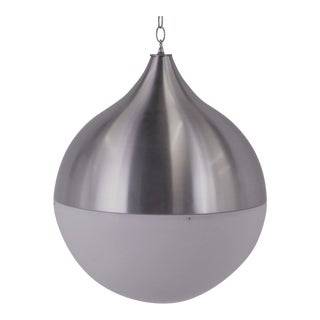 Large Space Age Aluminum & Acrylic Globe Pendant 1960s For Sale