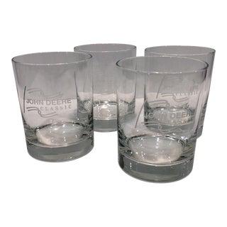 """John Deer Classic"" Etched Crystal Glasses - Set of 4 For Sale"