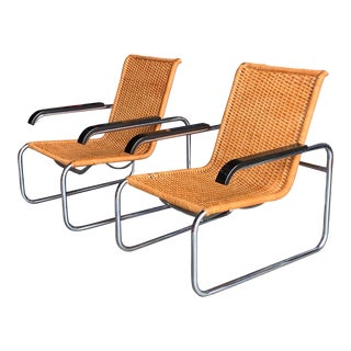 Classic Marcel Breuer B35 Chairs Icf - a Pair For Sale