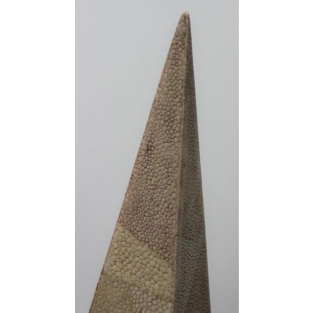 Maitland - Smith Vintage Maitland-Smith Shagreen Obelisks - a Set of 2 For Sale - Image 4 of 11