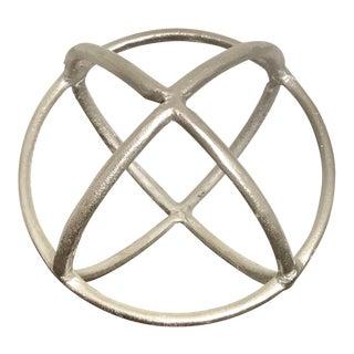 Silver Round Decorative Object