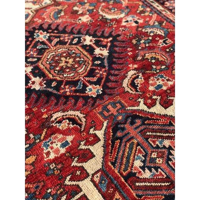 Textile 1950s Vintage Persian Karajeh Runner Rug - 3′5″ × 9′1″ For Sale - Image 7 of 13
