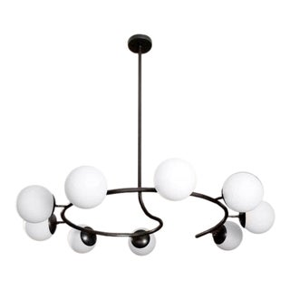 "Blueprint Lighting Italian Modern ""Fibonacci 9"" Oil Rubbed Bronze Chandelier For Sale"