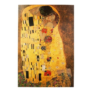 "Early 1990s Gustav Klimt, ""The Kiss"" German Poster For Sale"