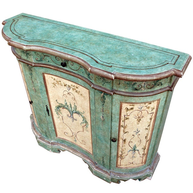 Italian Italian Hand Painted Cabinet For Sale - Image 3 of 10