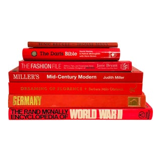 Stack of Red Books For Sale