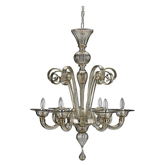 Dwr Black Murano Glass Chandelier For Sale