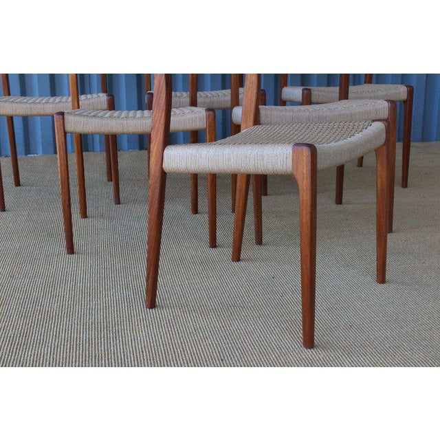 Niels Otto Møller Set of Six Dining Chairs by Niels Moller, Denmark, 1960s For Sale - Image 4 of 13
