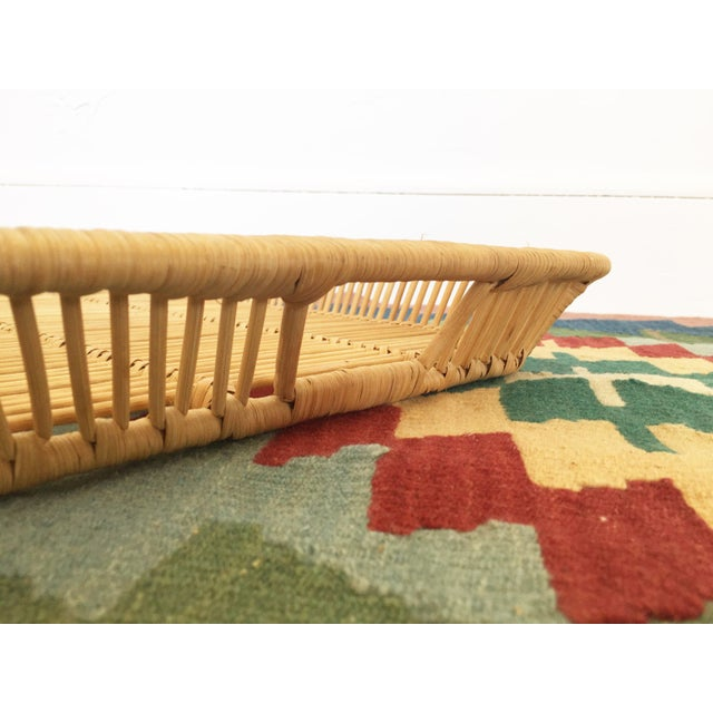 Boho Chic Vintage Rattan Tray - Image 6 of 6