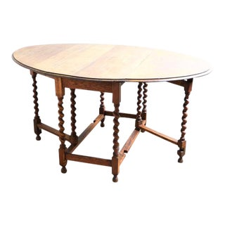 Baroque Twist Leg Extendable Dining Table