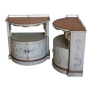 Karges Painted Demilune Nightstand - Pair For Sale