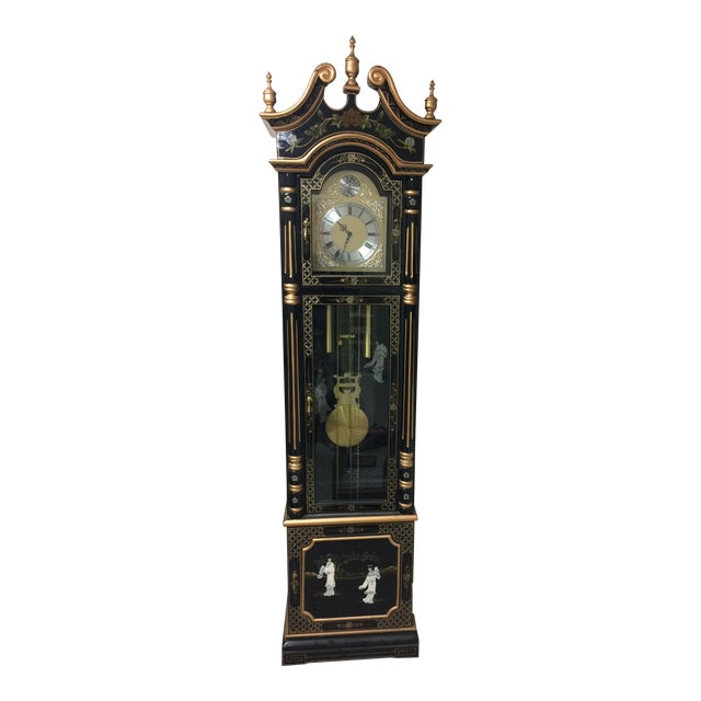 Vintage Chinese Grandfather Clock For Sale