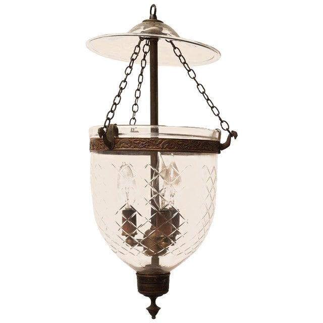Late 19th Century English Bell Jar Hall Lantern For Sale
