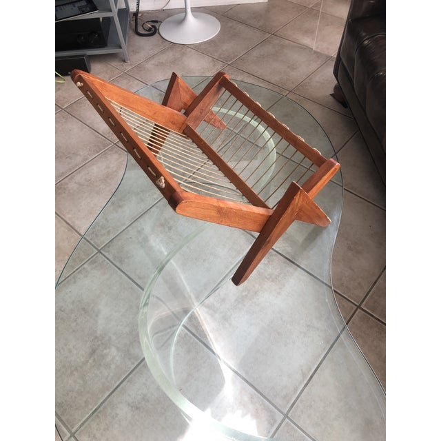 Mid-Century Modern Pierre Jeanneret Magazine Rack For Sale - Image 3 of 8