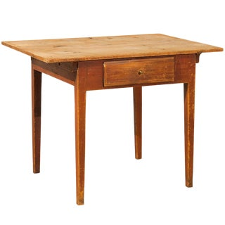Mid 19th Century Swedish Single-Drawer Wooden Table For Sale