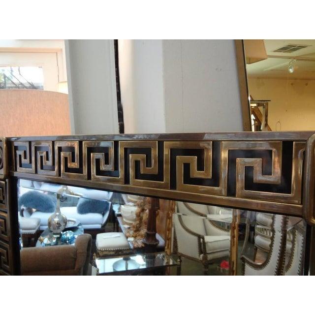 Art Deco Mastercraft Brass Greek Key Beveled Mirror For Sale - Image 3 of 8