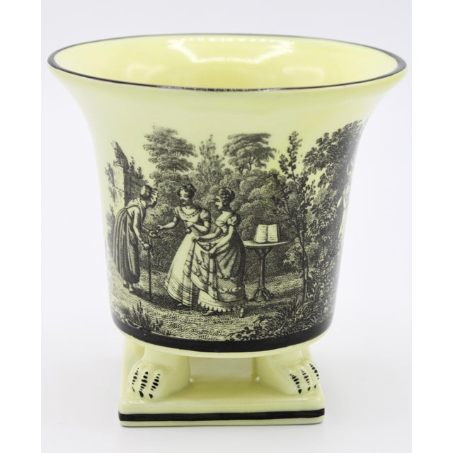 Italian Mottahedeh Canary Yellow Ceramic Cachepot Vessel For Sale - Image 12 of 12