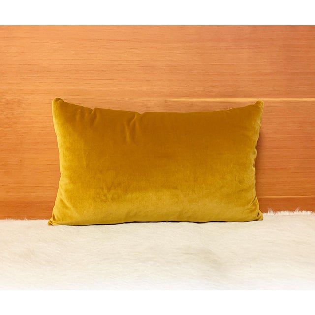 "Contemporary Loro Piana Velvet Pillow, 21"" For Sale - Image 3 of 6"