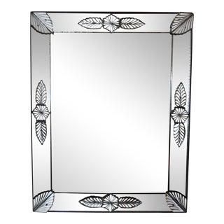 Antique Louis XVI Style Venetian Glass Rectangular Mirror