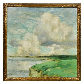 Massachusetts Coastline Oil on Canvas Painting by George Elmer Browne For Sale