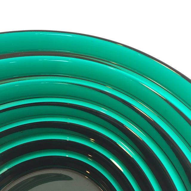 Iittala Aino Aalto for Iittala Green Glass Bowl For Sale - Image 4 of 5