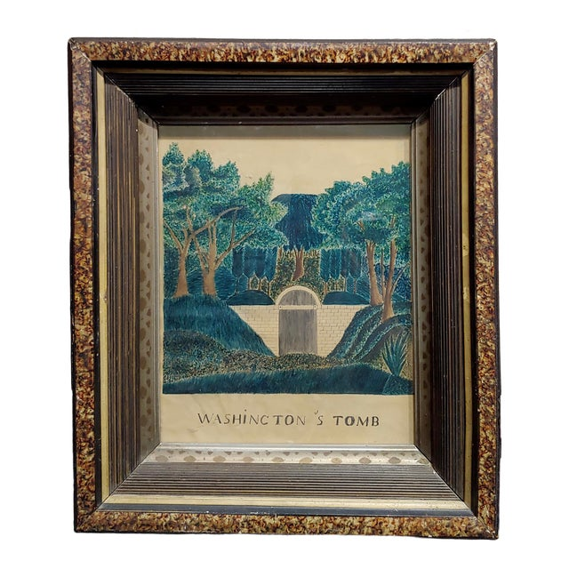 Early 19th Century Painting of George Washington's Tomb For Sale