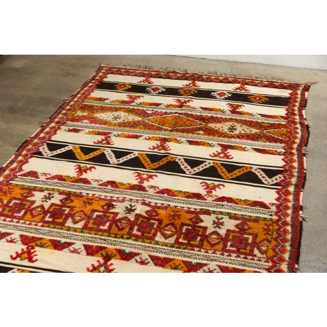 Moroccan Vintage Tribal Rug For Sale In Los Angeles - Image 6 of 10
