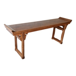 Beautiful Burled Altar Table by Baker For Sale