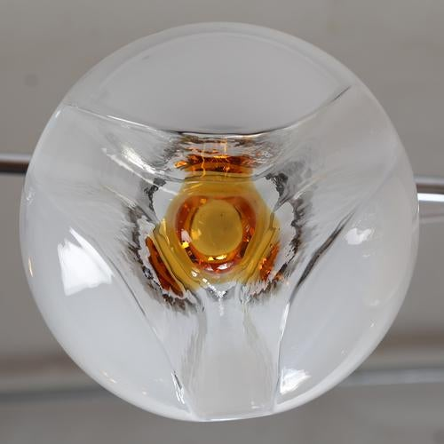 1970's vintage MAZZEGA GLASS PENDANTS- a pair For Sale In New York - Image 6 of 7