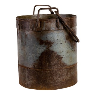 Vintage Indian Iron Bucket For Sale