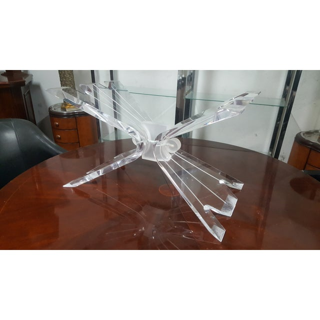 Hollywood Regency Lucite Butterfly Table Base - Image 6 of 7