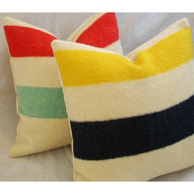 Multi-Striped Hudson's Bay Blanket Pillows - Pair - Image 8 of 11
