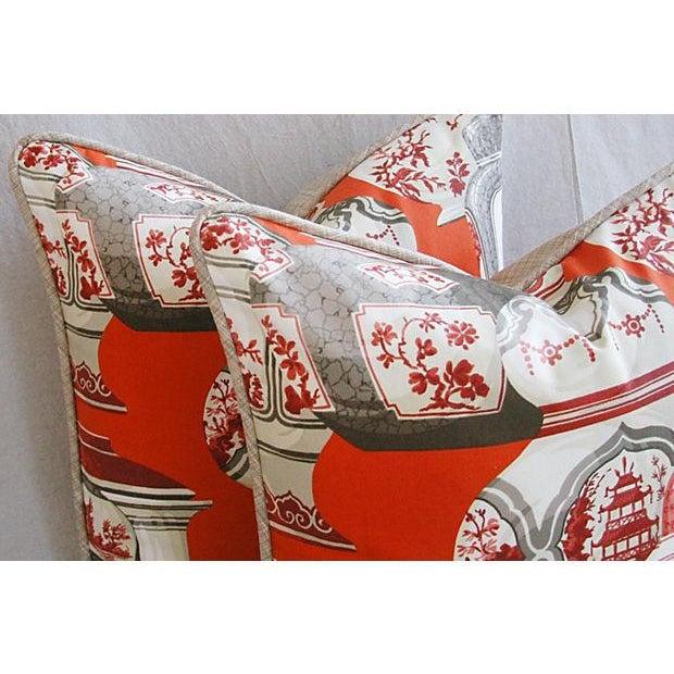Custom Braemore Chinoiserie Vase Pillows - Pair - Image 5 of 8