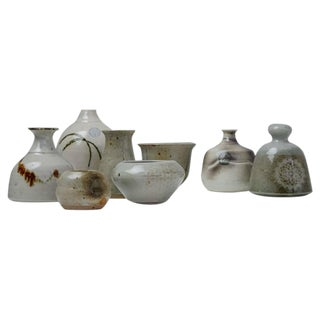 Franco Agnese Set of Eight Ceramic Pieces, France, 1960s For Sale