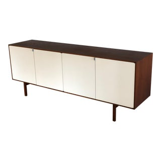 Florence Knoll Antique White Wood Credenza For Sale
