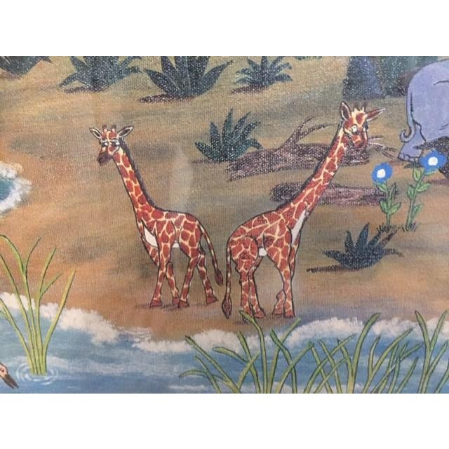 """1960s 1960s Vintage Mike Falco """"Lazy Afternoon"""" Folk Art Signed Artist Proof Serigraph on Canvas For Sale - Image 5 of 12"""