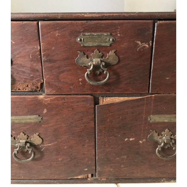 Thomas Chippendale Antique 18th Chippendale Card Filing Library Cabinet For Sale - Image 4 of 13