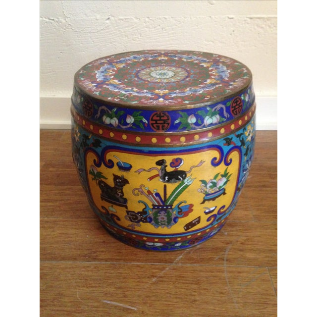 19th Century Chinese Cloisonne Garden Stool - Image 2 of 7